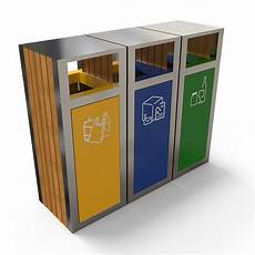 poubelle tri selectif kuokio multi recycling bin for exterior areas