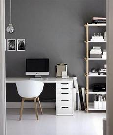 Home Decor Ideas For Grey Walls by 75 Small Home Office Ideas For Masculine Interior