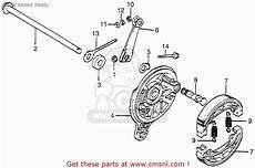 honda ct 70 k3 clutch assembly diagram honda ct70 trail 70 1982 c usa rear brake panel schematic partsfiche
