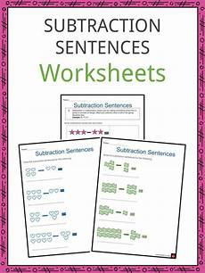 subtraction sentence worksheets subtraction sentences worksheets addition subtraction
