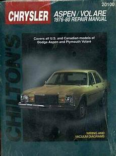 car repair manuals online free 1976 dodge aspen parental controls dodge aspen and volare 1976 80 chilton total car care excellent condition 9780801990823 ebay