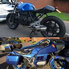 my 89 bmw k100 cafe racer before and after caferacers