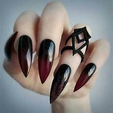 40 most popular aesthetic emo acrylic nails ring s art