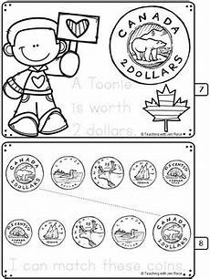 kindergarten canadian money worksheets printable 2718 canadian coins kindergarten booklet by teaching with jen rece tpt