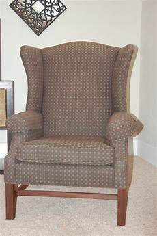how to cover a wingback chair with a sheet how to reupholster a wingback chair diy project aholic