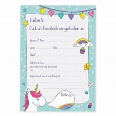 Einhorn Ausmalbild Einladung 6 Einladungskarten Kindergeburtstag Einhorn Einladungen