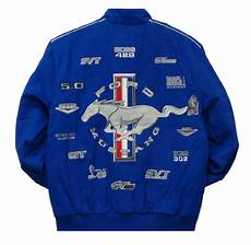 ford mustang collage mens royal twill jacket by jh design