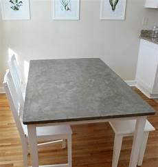 tisch selber machen esstischplatte in betonoptik mit wei 223 gestrichenem gestell
