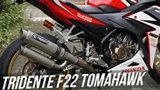 review knalpot 3 suara tridente f22 tomahawk terbaru youtube