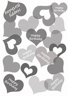 vorlagen herzen malvorlagen happy birthday diy geschenkpapier drucken zum geburtstag basteln mit