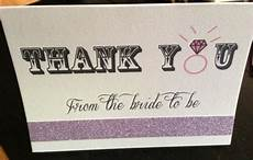 glitter bridal shower thank you card weddingbee photo gallery