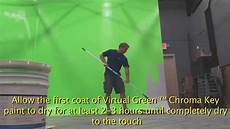 how to paint a green screen chroma key wall with green screen paint youtube