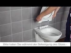 pressalit montage eines sign modern wc sitzes