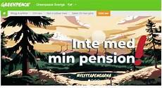 greenpeace schweden boykottiert staatlichen pensionsfonds