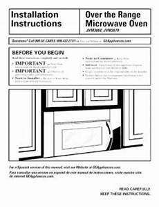 jvm3670wf06 ge the range microwave oven install