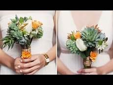succulent wedding bouquet diy youtube