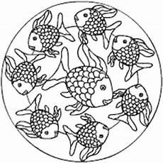 Ausmalbilder Fische Mandala Unterwasserwelt Mandalas Im Kidsweb De