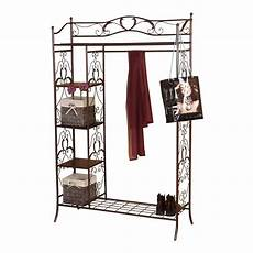 garderobe braun metall garderobe traditional in braun pharao24 de