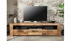 meuble tv en bois massif 170 cm pour salon