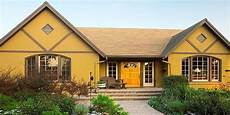 house paint exterior color combinations with mustard yellow and brown also honeysuckle white in