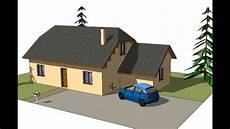 maison 3d dessin tuto dessiner sa maison avec sketchup chapitre 1 dessin d une maison