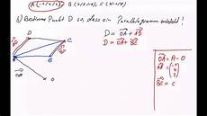 oberstufe vektorrechnung dreieck und parallelogram