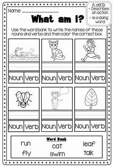 verbs printable worksheet pack kindergarten first second grade tpt language arts lessons
