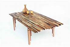 Attractive Sustainable Recycle Furniture Designs beautiful wildfire table made from multi tone scraps of
