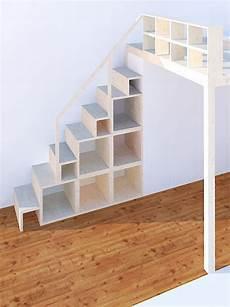 treppen die wenig platz brauchen regal und treppe f 252 r hochebene und hochbett neubauen