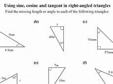 trigonometry soh cah toa worksheet mixing cos
