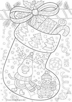 Weihnachtsmalvorlagen J Doodle Colouring Page Mit Bildern