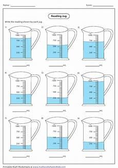 measurement worksheets 1460 reading jug worksheet with answer key printable pdf templateroller