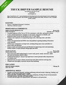 truck driver resume good resume exles resume exles