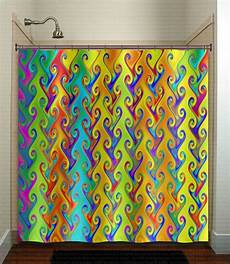 Bright Colored Shower Curtains
