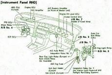 Fuse Box Toyota 1990 Supra Electrical Instrument Diagram