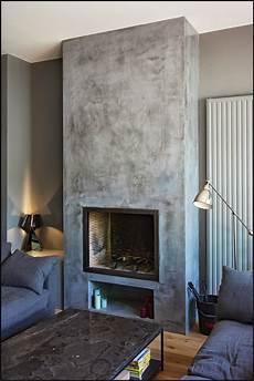 foyer pour cheminee bois chemin 233 e habill 233 de b 233 ton cir 233 chemin 233 e en 2019