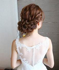 Beautiful Curl Low Updo Hairstyle For Brides
