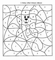 free simple color by number worksheets 16325 easy color by number for preschool and kindergarten