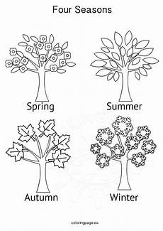 season coloring pages 17618 seasons activities four seasons tree coloring page