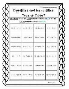 equality or inequality practice worksheet addition subtraction and mixed 4 little