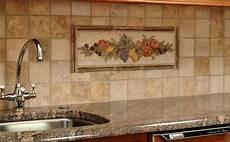 kitchen decorative mural backsplash mediterranean tile