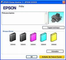 niveau d encre imprimante imprimant epson stylus sx 205