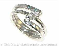 white gold and diamond combined engagement and wedding ring