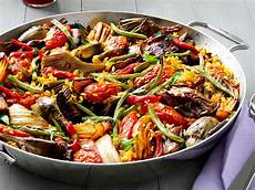 vegetable paella meatless monday fn dish behind the food trends and best recipes