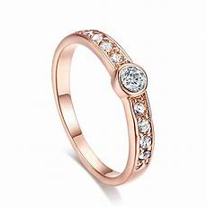 journ 233 e encrusted austrian aaa cz 18k rose gold platinum plated engagement ring