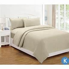 king size micro flannel sheet set in linen 140gsm buy
