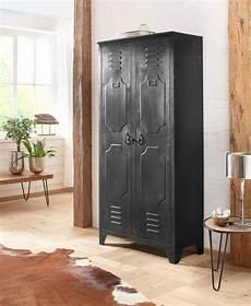 schrank metall home affaire schrank 187 chandan 171 komplett aus metall