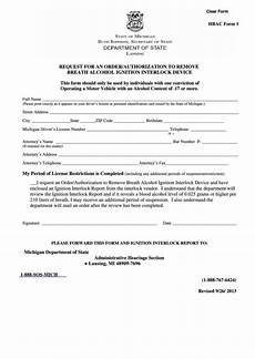 fillable request for an order authorization michigan of state printable pdf download