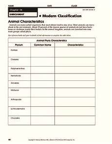 animal kingdom worksheets middle school 13932 modern classification worksheet for 9th grade lesson planet