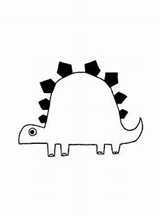 Dinosaurier Malvorlage Einfach Dinosaurier Malvorlage Einfach Kinder Zeichnen Und Ausmalen